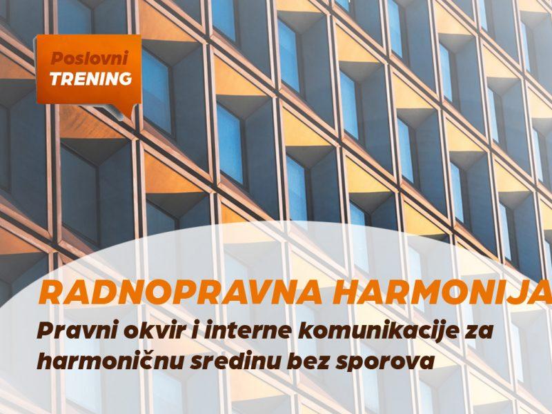 Trening: Radno-pravna harmonija