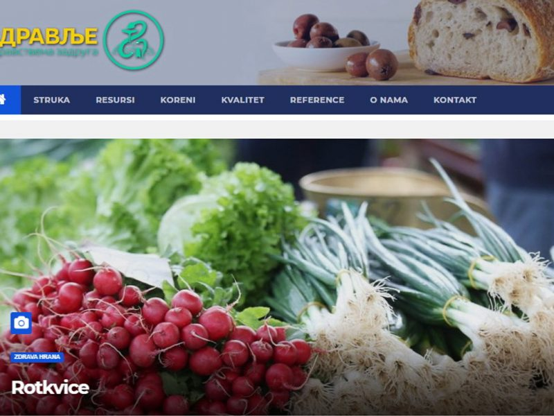 Web Sajt za Zdravstvenu zadrugu ZDRAVLJE